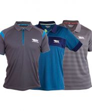 PACK 3 WINGPADEL POLO SHIRTS, MIPER GREY AND BLUE POLO SHIRT, W-THEO BLUE POLO SHIRT AND W-IVO GREY POLO SHIRT