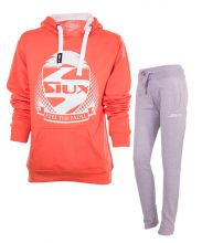 SIUX OUTFIT BELICE CORAL WOMEN SWEATSHIRT AND BANDIT GREY SWEATPANTS