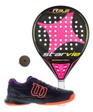 PACK STAR VIE R9.2 DRS MUJER Y ZAPATILLAS WILSON ASTRAL