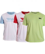PACK 3 WINGPADEL SHIRTS, W-LALO SKY BLUE, W-OWEN LIME GREEN AND W-LALO RED