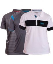 PACK 3 WINGPADEL POLO SHIRTS, MIPER GREY AND BLUE POLO SHIRT, W-LOT GREY POLO SHIRT AND W-THEO WHITE BLACK POLO SHIRT