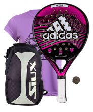 PACK ADIDAS FASTER PINK 1.9 AND SIUX SILVER BACKPACK