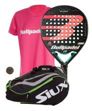 PACK BULLPADEL FLOW 2020 ET SAC DE PADEL SIUX MASTERCOMBI ROUGE