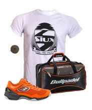 PACK BULLPADEL HACK KNIT ORANGE PADEL SHOES AND BPP16001 BAG