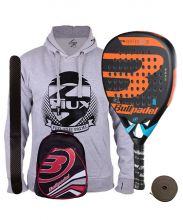 PACK BULLPADEL VERTEX 2 JUNIOR BOY Y MOCHILA ROJA