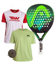 PACK HEAD GRAPHENE TORNADO CONTROL LTD AND TWO WINGPADEL SHIRTS