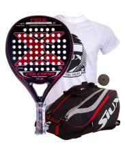 PACK NOX VOLCANO PRO SERIES P3 AND SIUX MASTERCOMBI RED PADEL RACKET BAG