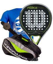 PACK WILSON CARBON FORCE PRO AND WINGPADEL GREEN PADEL RACKET BAG