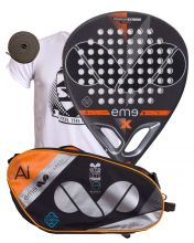 PACK EME EXTREME POWER LTD BLACK AND EME ALUMINIUM ORANGE PADEL RACKET BAG