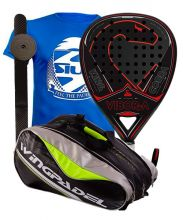 PACK VIBORA KING COBRA LIQUID Y PALETERO WINGPADEL VERDE