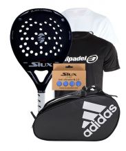 PACK SIUX BLACK CARBON MATE Y PALETERO ADIDAS CONTROL CRB