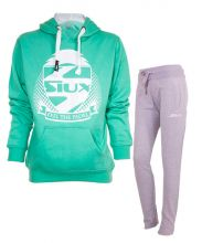 SIUX WOMEN OUTFIT TURQUOISE SWEATSHIRT AND GREY SWEATPANTS