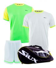 PACK SIUX MASTERCOMBI PADEL RACKET BAG, 2 SIUX SHIRTS AND SHORTS