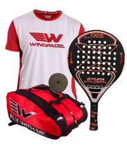 PACK NOX STUPA FULL CARBON HYBRID 2017 AND WINGPADEL WESKAR PADEL RACKET BAG