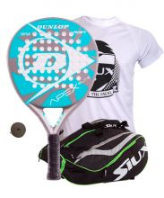 PACK DUNLOP APEX ELITE AND SIUX MASTERCOMBI GREEN PADEL RACKET BAG