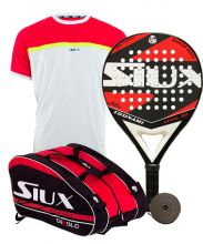 PACK SIUX TSUNAMI RED, PADEL RACKET BAG AND SIUX APOLO SHIRT