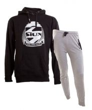 SIUX OUTFIT PREMIUM BLACK SWEATSHIRT AND DIABLO GREY SWEATPANTS