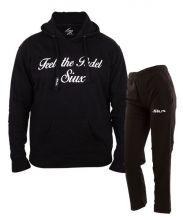 SIUX OUTFIT CLASSIC BLACK SWEATSHIRT AND BANDIT BLACK SWEATPANTS