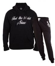 SIUX OUTFIT CLASSIC BLACK SWEATSHIRT AND DIABLO BLACK SWEATPANTS