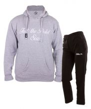 SIUX OUTFIT CLASSIC GREY SWEATSHIRT AND BANDIT BLACK SWEATPANTS