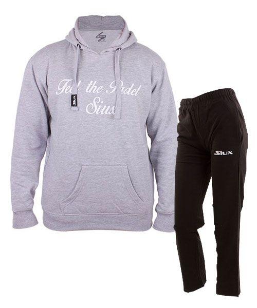 equipacion-siux-sudadera-classic-gris-y-pantalon-bandit-negro