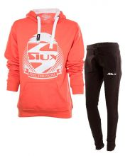SIUX WOMEN OUTFIT CORAL SWEATSHIRT AND BLACK SWEATPANTS
