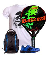 PACK BABOLAT DEFIANCE CARBON AND KELME K-SPIKE PADEL SHOES