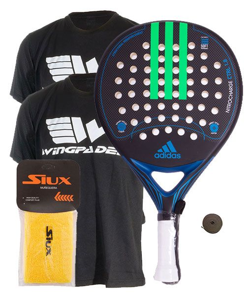 usuario Reciclar Ambientalista  Pack Adidas Nitrocharge Ctrl 1.8 blue and 2 Wingpadel shirts | Innovation  and design