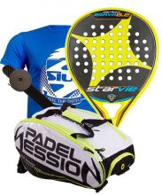 PACK STAR VIE BRAVA 8.2 CARBON 2017 Y PALETERO PADEL SESSION MATRIX 3