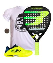 PACK BULLPADEL VERTEX 2 2019 AND PADEL SHOES
