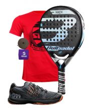 PACK BULLPADEL HACK CONTROL AND WILSON PADEL SHOES