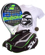PACK BABOLAT CONTACT AND SIUX MASTERCOMBI GREEN PADEL RACKET BAG