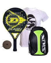 PACK DUNLOP FLASH PRO YELLOW AND SIUX YELLOW BACKPACK