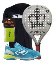 PACK BLACK CROWN PITON 2.0 Y ZAPATILLAS BULLPADEL VERTEX
