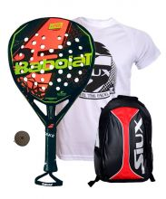 PACK BABOLAT VIPER CARBON AND SIUX RED BACKPACK