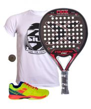 PACK NOX VOLCANO PRO SERIES P.3  AND BABOLAT PULSION PADEL SHOES