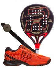 PACK ROYAL PADEL ANY SPECIAL ED. AND WILSON KAOS PADEL SHOES WRS322370