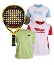 PACK NOX MAGMA MATTE AND 3 WINGPADEL SHIRTS
