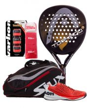 PACK HEAD GRAPHENE TORNADO CONTROL LTD GOLD AND WILSON KAOS 2.0 PADEL SHOES