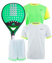 PACK ADIDAS REAL POWER CTRL 1.8, 2 CAMISETAS SIUX Y PANTALON SIUX
