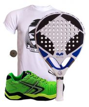 PACK EME TITANIUM WHITE 3 ET SOFTEE PADEL WINNER 1.0