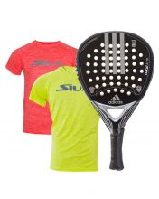 PACK ADIDAS ZUKUR ATTK CHROME SILVER PADEL RACKET AND SIUX SHIRTS