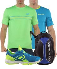 PACK BULLPADEL HACK KNIT 20V AZUL, MOCHILA Y 2 CAMISETAS