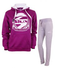 SIUX WOMEN OUTFIT VIOLET SWEATSHIRT AND GREY SWEATPANTS