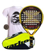 PACK NOX MAGMA MATE AND VARLION ERGONOMIC YELLOW PADEL RACKET BAG