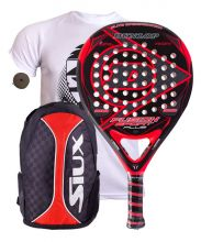 PACK DUNLOP FUSION SPORT PLUS AND SIUX TRAIL RED BACKPACK