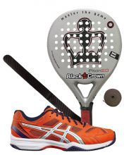 PACK BLACK CROWN PITON 2.0 Y ASICS GEL PADEL EXCLUSIVE 4SG