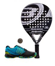 PACK BULLPADEL SILVER EDITION AND WILSON DEVO PADEL SHOES
