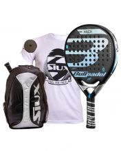 PACK BULLPADEL HACK CONTROL AND SIUX SILVER BACKPACK