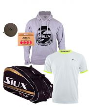 PACK SIUX DIABLO PADEL RACKET BAG AND SIUX PREMIUM GREY BOY SWEATSHIRT